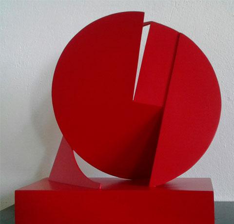 Pablo Olivera, Obra, Circulo rojo I, Arte Hoy, Galería