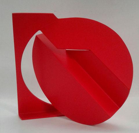 Pablo Olivera, Obra, Circulo rojo II, Arte Hoy, Galería