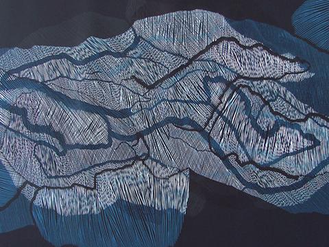 Ernesto Alva, Obra, Devorando, espacio interior, Azul II, Arte Hoy, Galería