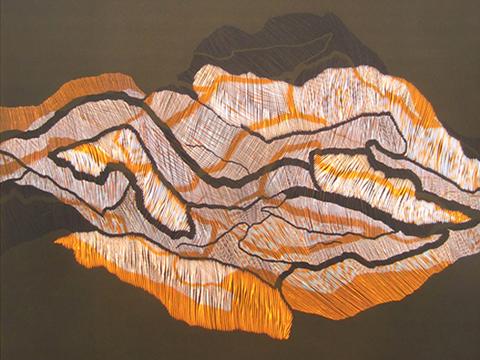 Ernesto Alva, Obra, Devorando, espacio interior, Naranja II, Arte Hoy, Galería