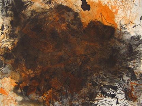 Ernesto Alva, Obra, Devorando, espacio interior, Naranja, Arte Hoy, Galería