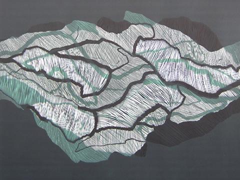 Ernesto Alva, Obra, Devorando, espacio interior, Verde II, Arte Hoy, Galería