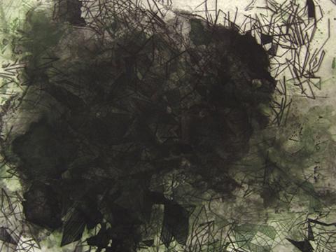 Ernesto Alva, Obra, Devorando, espacio interior, Verde, Arte Hoy, Galería