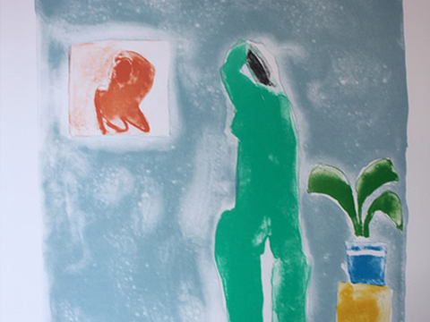 Joy Laville, Obra, Desnudo, espejito cuadrado, Arte Hoy, Galería