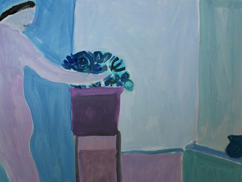 Joy Laville, Obra, Mujer, flores, Arte Hoy, Galería