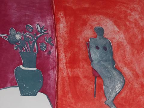 Joy Laville, Obra, Mujer, dos cuartos, Arte Hoy, Galería