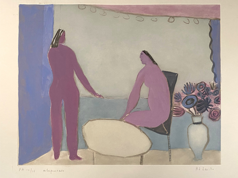 Joy Laville, Obra, Pareja, balcón, Arte Hoy, Galería