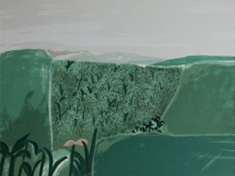 Joy Laville, Obra, Vista, dos colinas, Arte Hoy, Galería