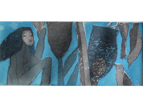 Roger von Gunten, Obra, Azul pequeño, Arte Hoy, Galería