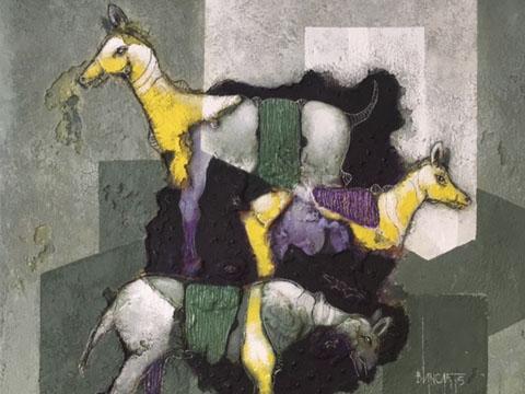 Álvaro Blancarte, Obra, Los amarillos II, Arte Hoy, Galería