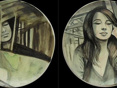 Diana Salazar, Reflejo díptico, Arte Hoy, Galería