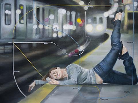 Diana Salazar, Subway, selfie, Arte Hoy, Galería