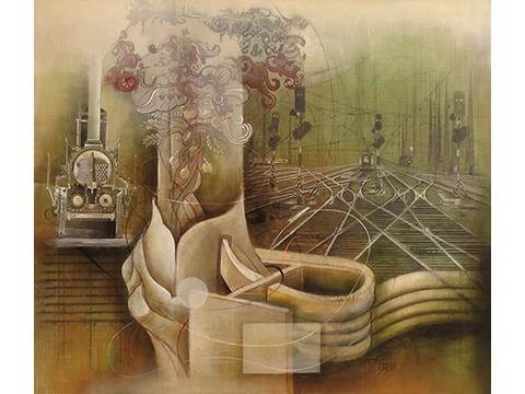 Ignacio Salazar, Obra, Tren, Árbol, Sagrado, Arte Hoy, Galería